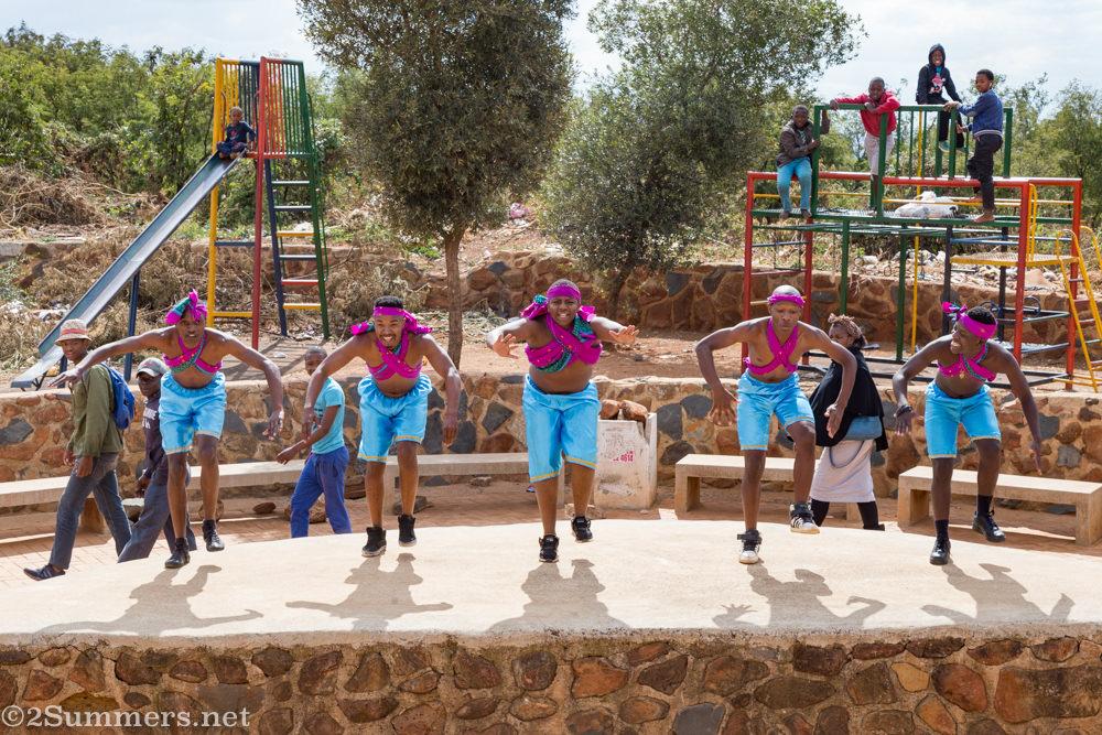 Tswana dancers in Orange Farm
