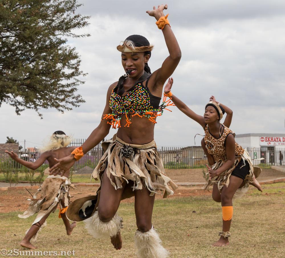 Zulu dancing in Orange Farm