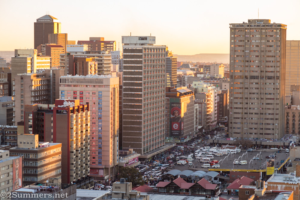 Downtown Joburg from 120 End Street