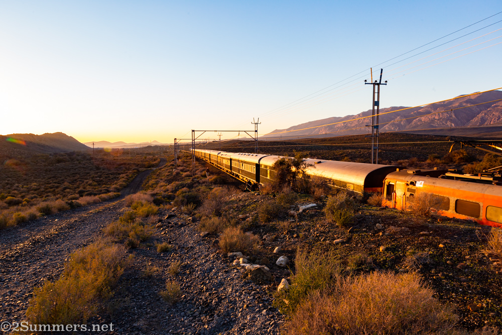 Rovos Rail train outside Matjiesfontein