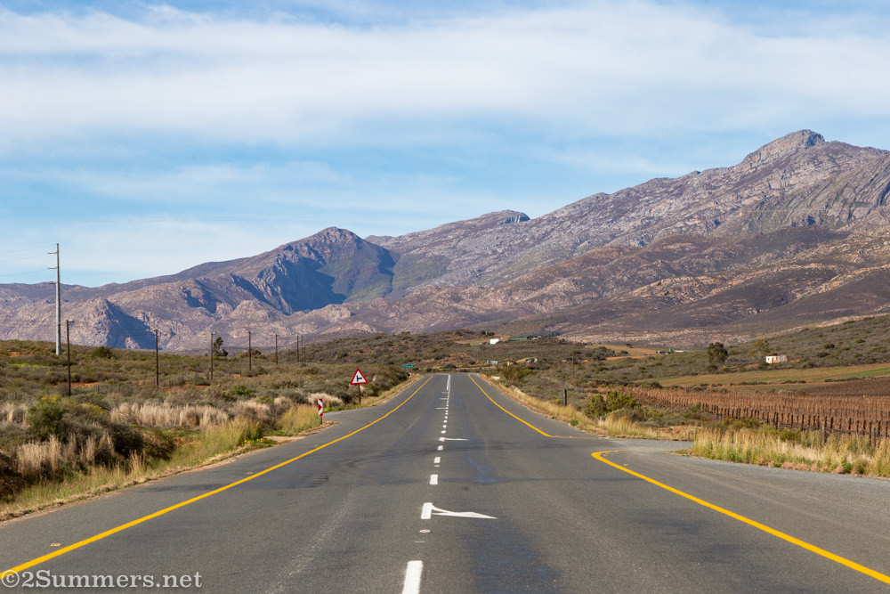 The road on Route 62 in South Africa