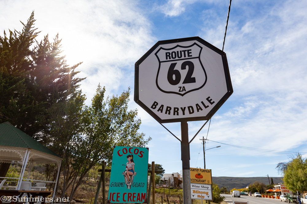 Route 62 sign in Barrydale