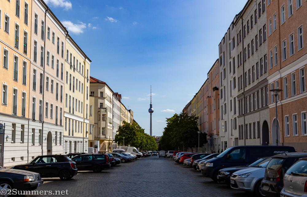 East Berlin and TV tower