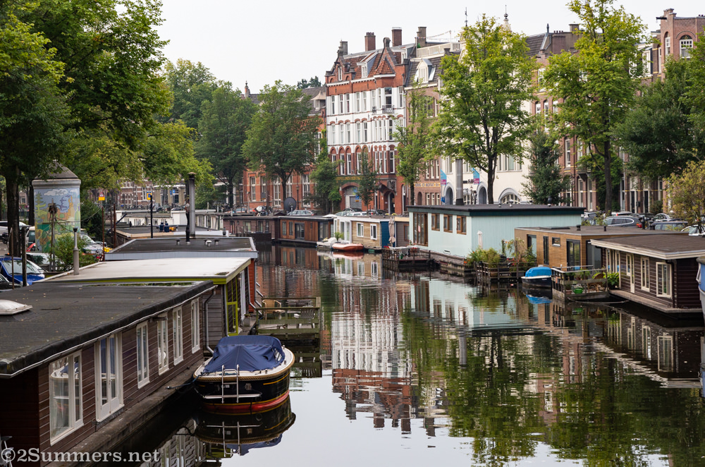 Canal life in Amsterdam