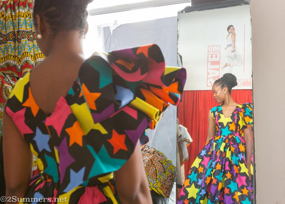 Laurette Chala in her Urban Zulu dress