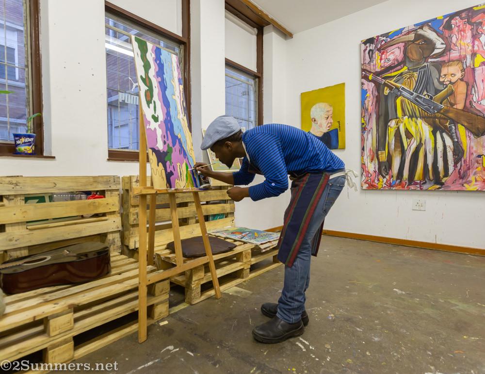 Artist Khotso Motsoeneng in Transwerke