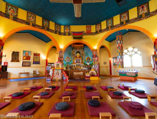 Inside the Buddhist Centre in Fietas
