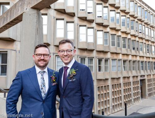 Thomas and Guy at Wits after their wedding