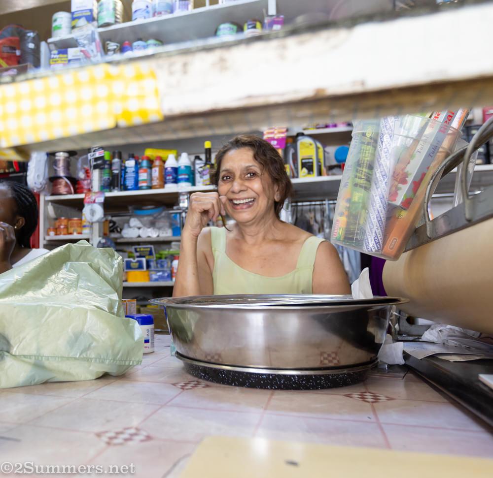 Jay Patel of Langwan Cleaners in downtown Joburg