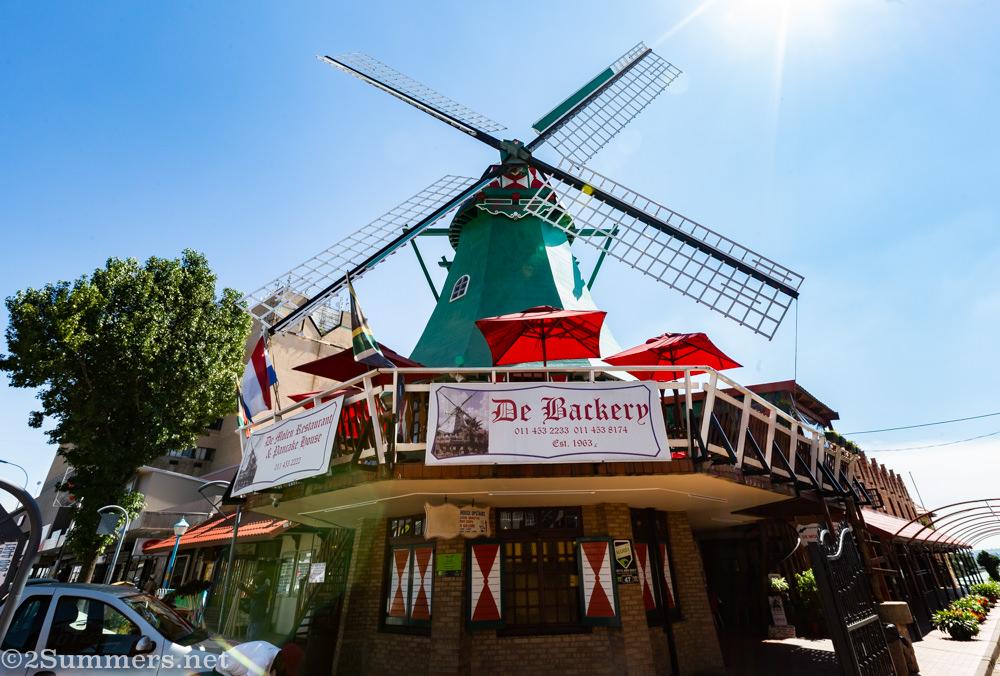 De Bakery windmill on Van Riebeek Avenue in Edenvale