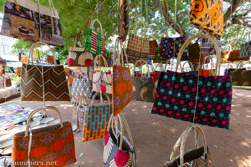 Bags for sale at FEIMA in Maputo