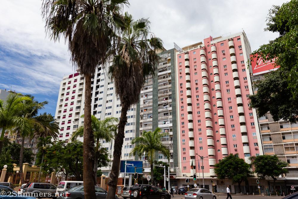 Beautiful pink high-rise in Maputo