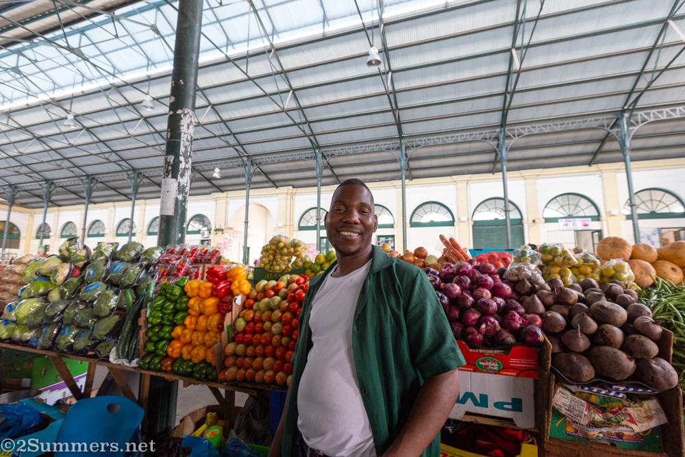 Vegetable vendor in Mercado Central