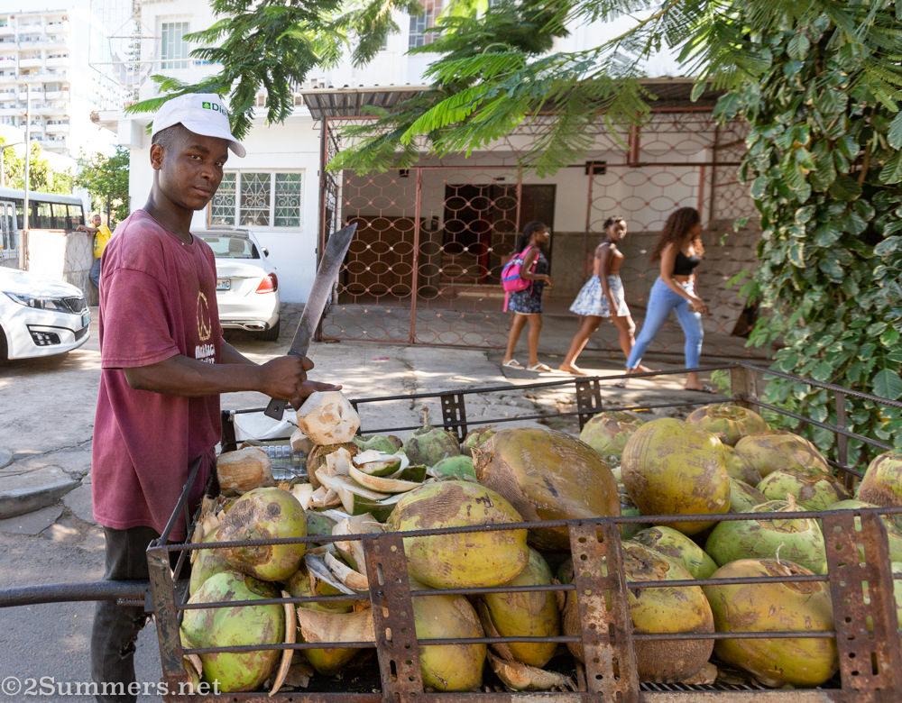 Coconut salesman in Maputo