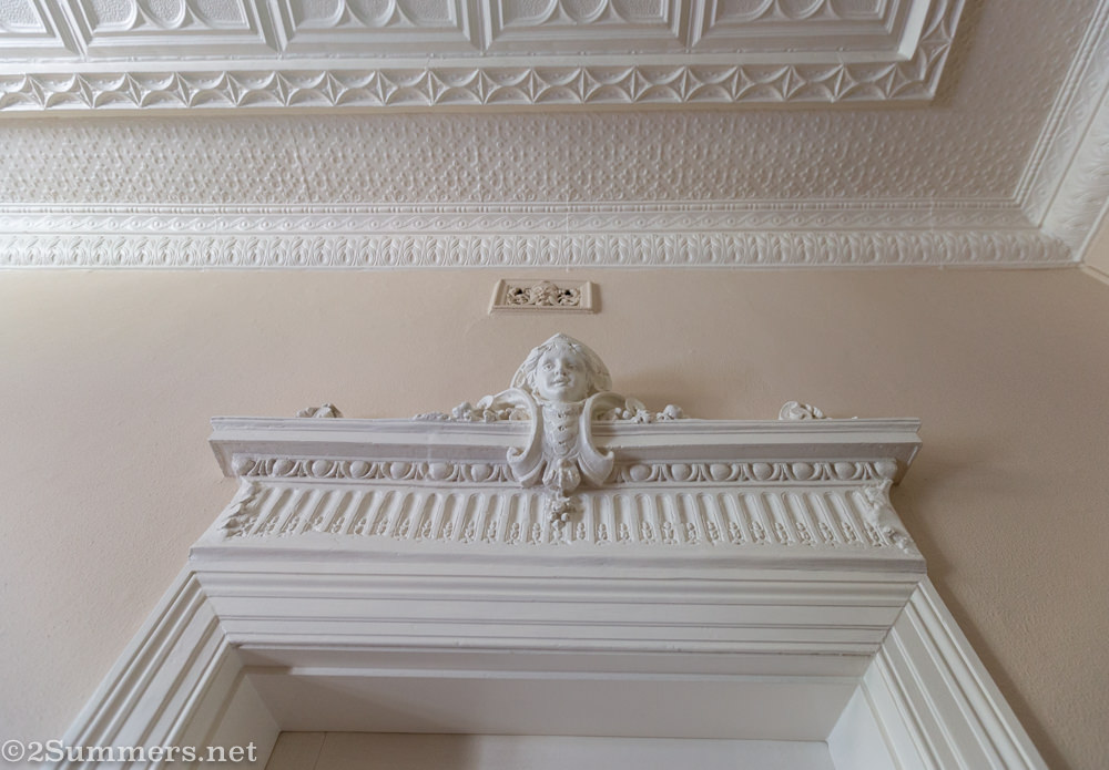 Cherub above a doorway in Yukon House
