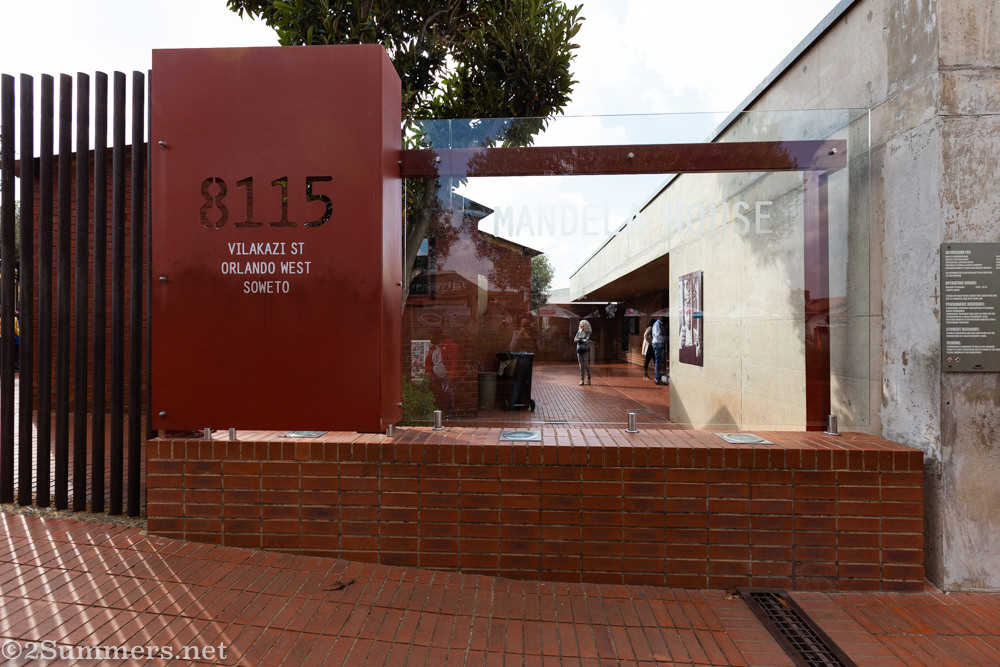 Outside the Mandela House museum in Soweto