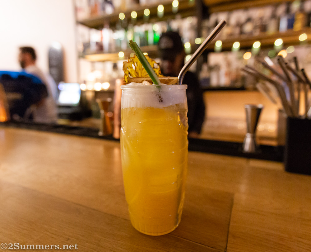 Pineapple gin cocktail at Tonic