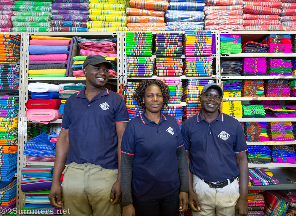 Salespeople at Khoja's Fabrics in Louis Trichardt