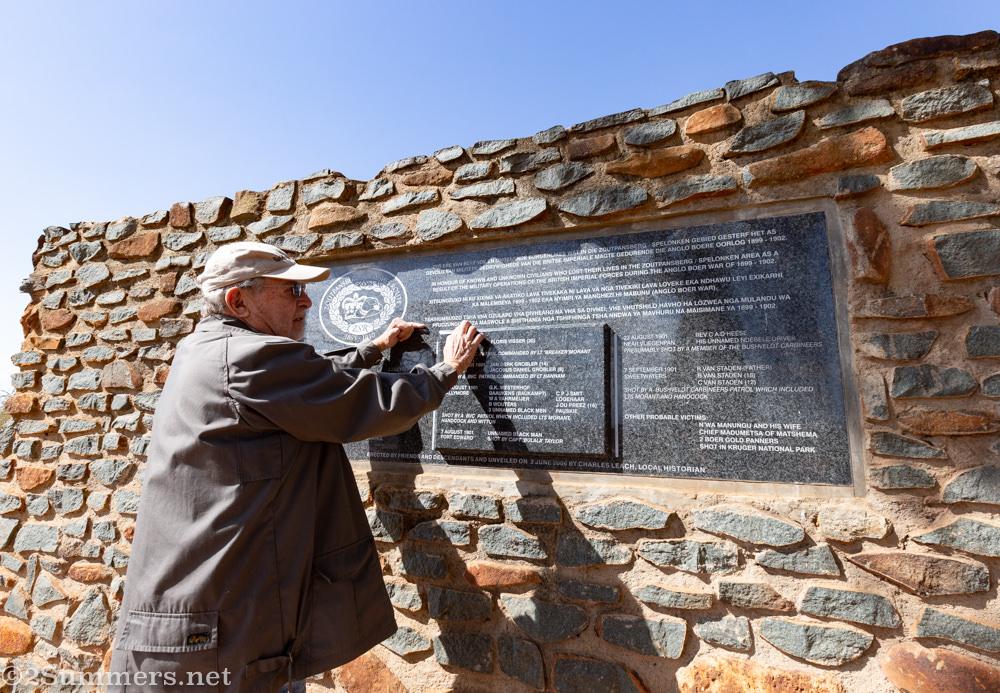 Charles Leach Anglo-Boer war monument near Elim
