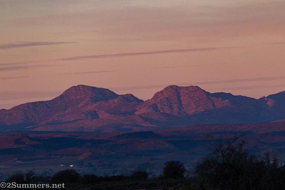 Sunrise in the Klein Karoo.