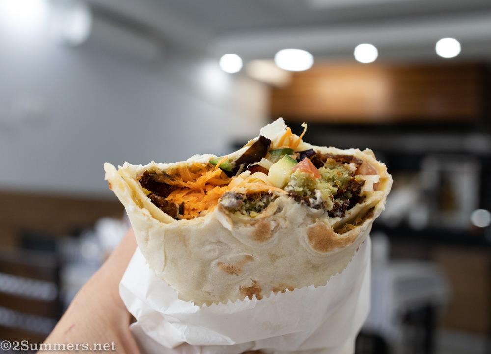 Falafel laffa from Shwarma Bar