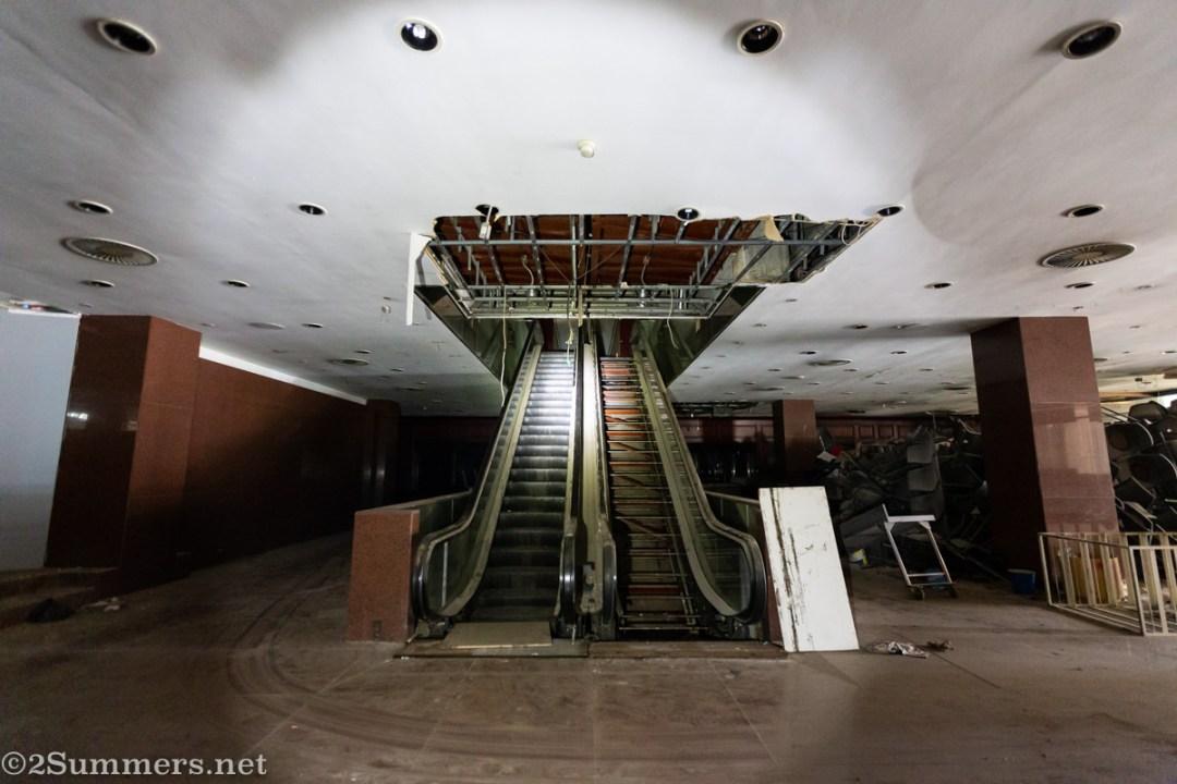Carlton lobby escalator