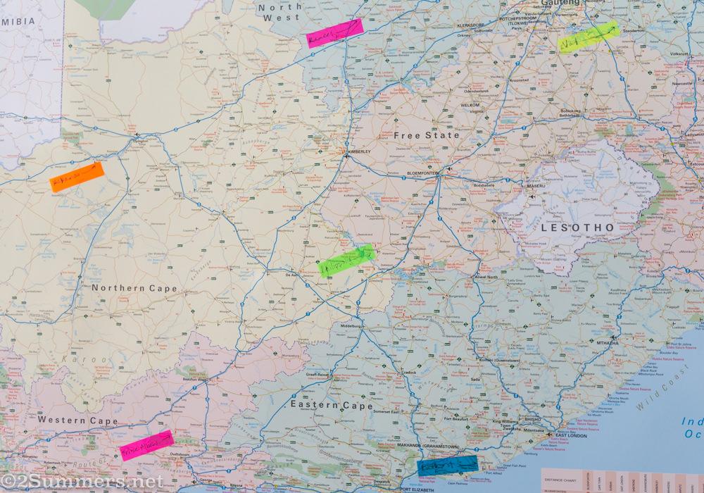 Map closeup