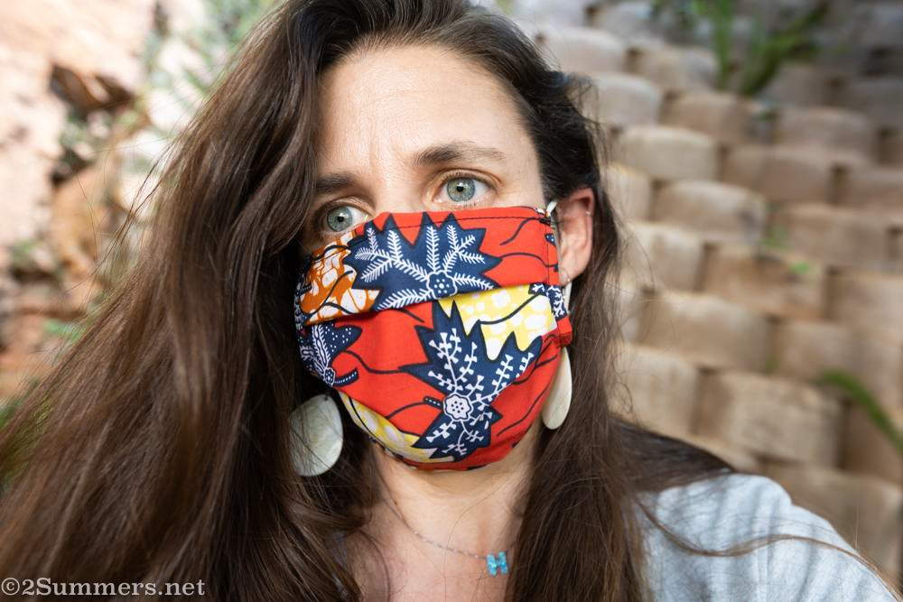 Heather in mask