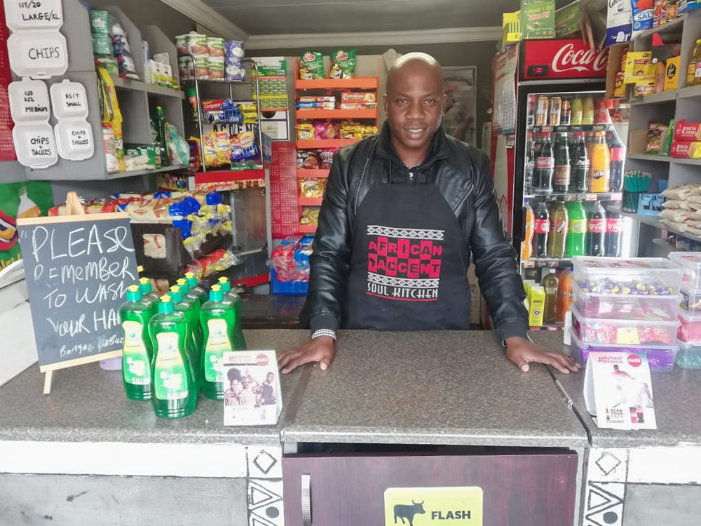Bongani Mabuza of African Accents Spaza Shop