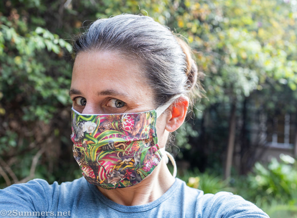 Mask self-portrait