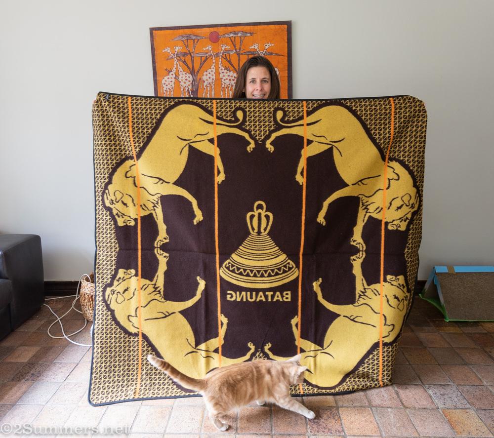 Heather and her Basotho blanket