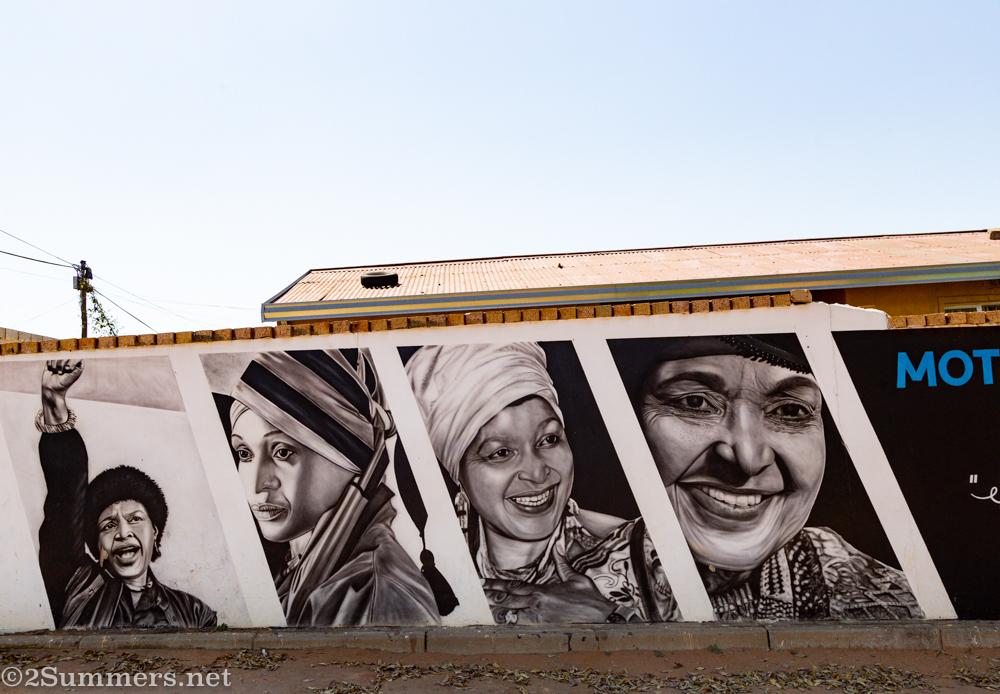 Winnie Mandela mural on Vilakazi Street