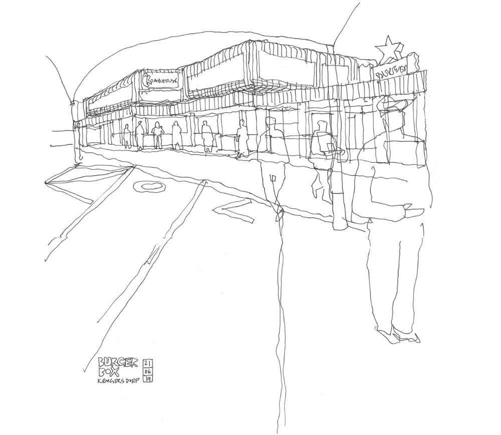 Sketch of the Burger Box Roadhouse
