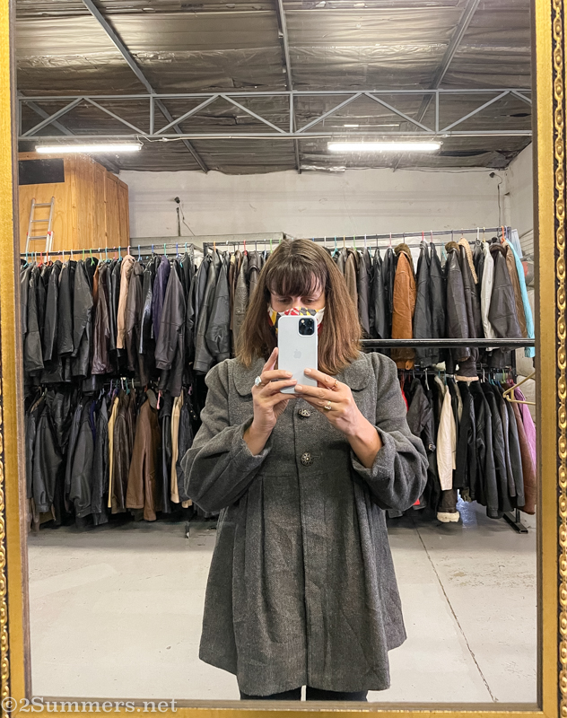Heather in a Cheapside coat