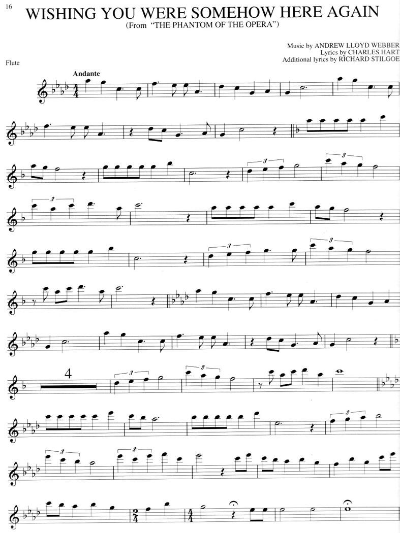 The Phantom Of The Opera Free Flute Sheet Music