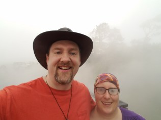 Jessica and I at the steam vents