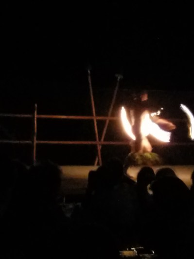 The fire-dancer at the Luau