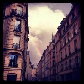 Rainbow - Rue Dante, Paris 2013 / Instagram