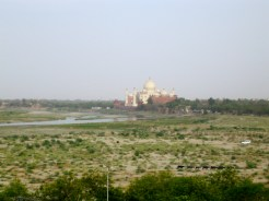 Vue du Taj Mahal, Red Fort, Agra, India - 2008