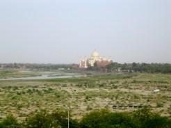 Vue du Taj Mahal, Red Fort, Agra, India - 2008