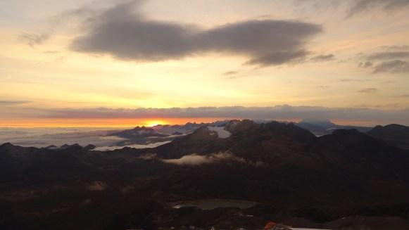 Sonnenaufgang auf über 5000 Metern