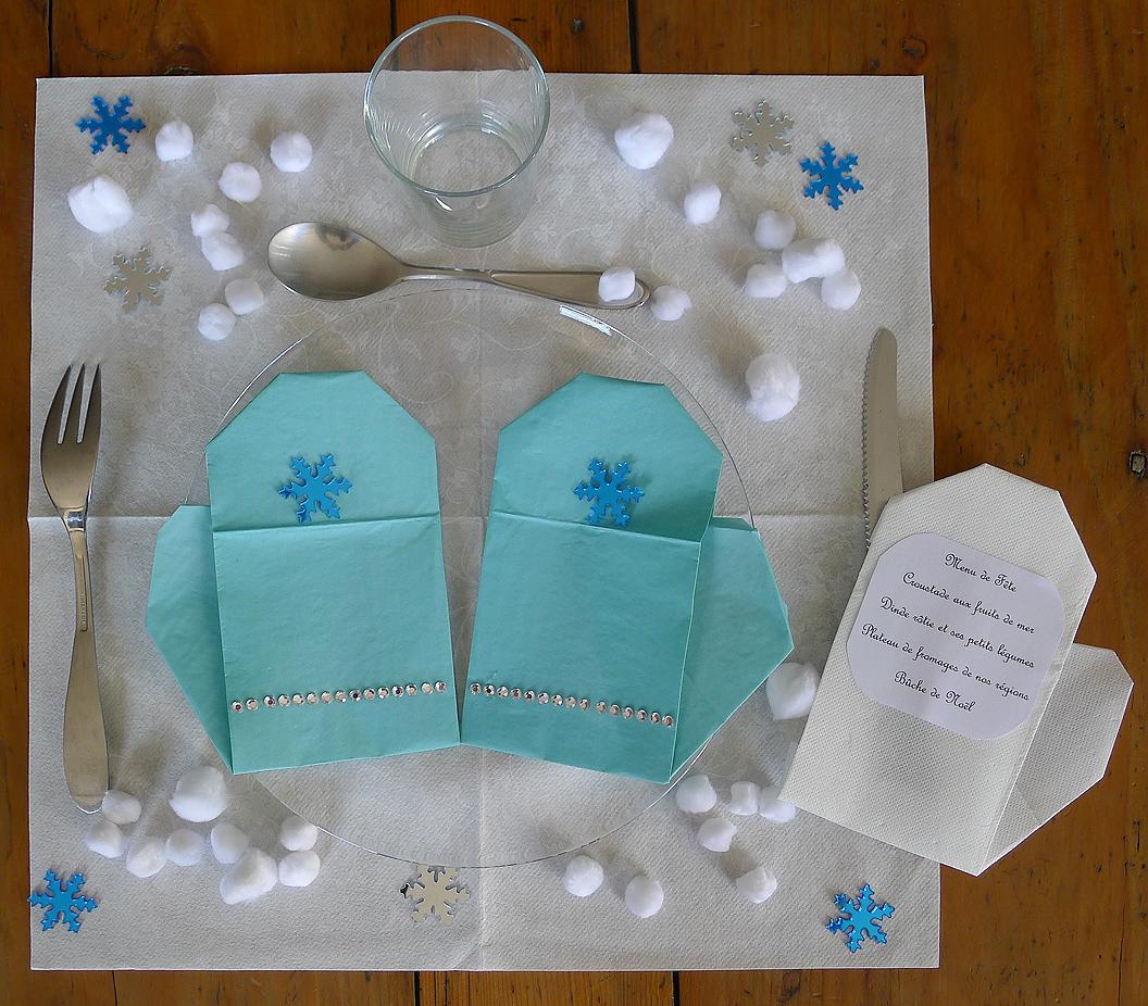 Pliage De Serviette De Table En Forme De Moufle Pour Votre
