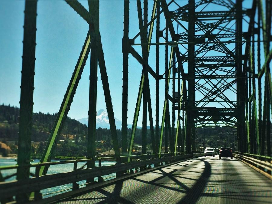 Crossing Hood River Bridge over Columbia River Oregon 2traveldads.com