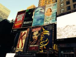 Time Square Broadway Signs