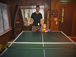 Chris Taylor and LittleMan Ping Pong Cabin