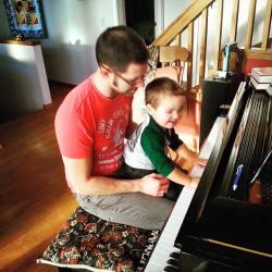 Chris Taylor and LittleMan playing Piano BNB