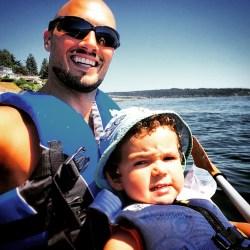 Rob Taylor and LittleMan Kayaking 2