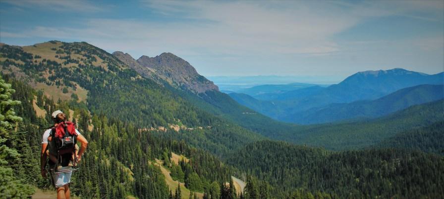 Rob Taylor Hurrican Ridge Hiking with Pack