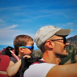 Rob Taylor and LittleMan at Hurrican Ridge Olympic National Park 2