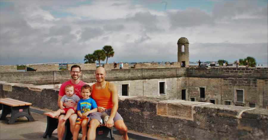 Taylor Family at Castillo San Marcos St Augustine Florida 1